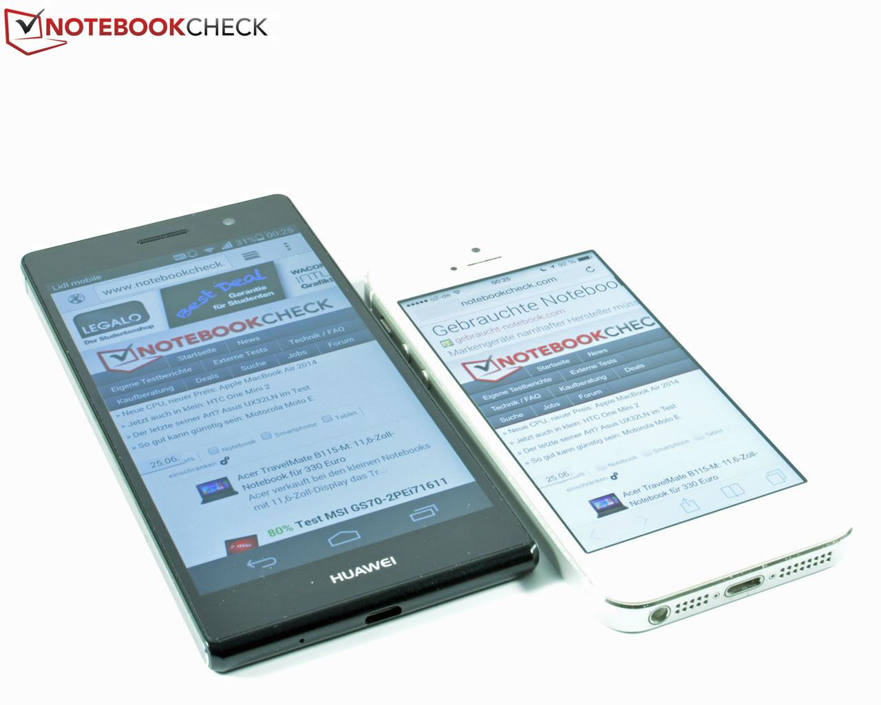 Kısa inceleme: Huawei Ascend P7 - Notebookcheck-tr com