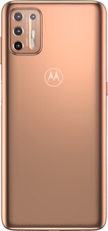 Moto G9 Plus in blush gold