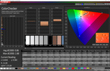 CalMAN: Colorchecker - calibrated (P3 target colour space)