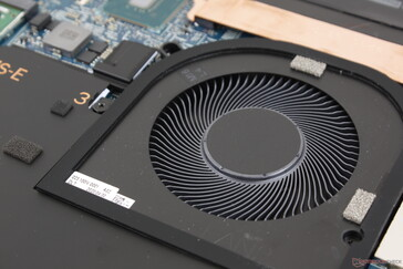 Twin ~65 mm fans are very large even for a 17-inch chassis