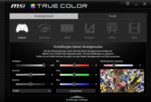 MSI True Color display settings