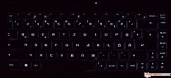 MSI P65 8RF Creator keyboard (backlit)