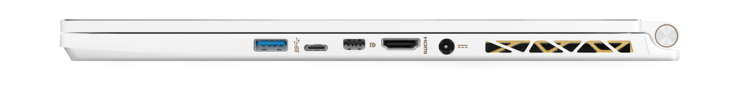 Right: USB 3.1, Thunderbolt 3, Mini-DisplayPort, HDMI, power