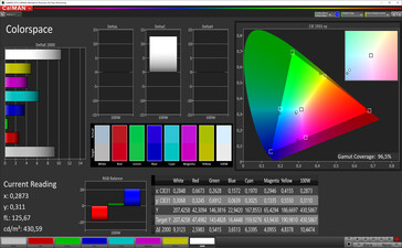 Color Space (Vibrant color mode, P3 target color space)