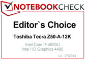 Editor's Choice in July 2014: Toshiba Tecra Z50-A-12K