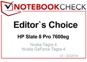 Editor's Choice in February 2014: HP Slate 8 Pro 7600eg