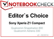 Editor's Choice in February 2014: Sony Xperia Z1 Compact