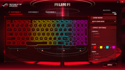 You can light up the keyboard or make it blink (one or more colors).
