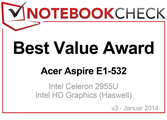 Best Value Award in January 2014: Acer Aspire E1-532