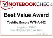 Best Value in January 2014: Toshiba Encore WT8