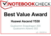 Best Value Award in April 2014: Huawei Ascend Y530