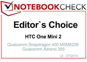 Editor's Choice in July 2014: HTC One Mini 2