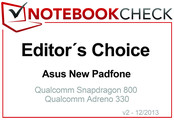 Editor's Choice in December 2013: Asus New PadFone