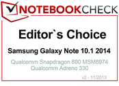 Editor's Choice in November 2013: Samsung Galaxy Note 10.1