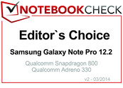 Editor's Choice in March 2014: Samsung Galaxy Note Pro 12.2 LTE