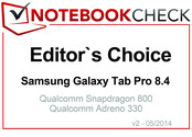 Editor's Choice in April 2014: Samsung Galaxy Tab Pro 8.4