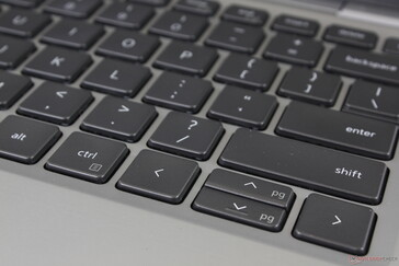 The Up and Down keys are half-sized and cramped to use