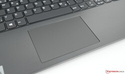 A close-up of the trackpad on the ThinkBook 15
