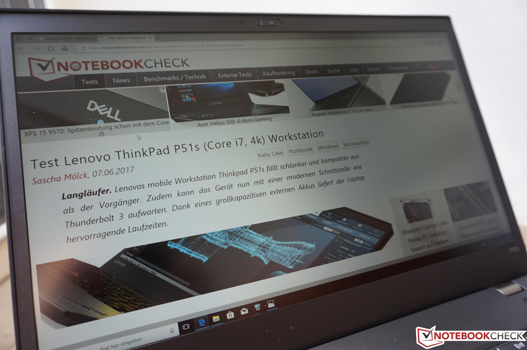 Kısa inceleme: Lenovo ThinkPad P52s (i7-8550U, Full HD) çalışma
